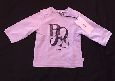 Hugo Boss Baby Boys Top T-shirt Long Sleeve Brand New With Tags Bnwt 0-3 Months
