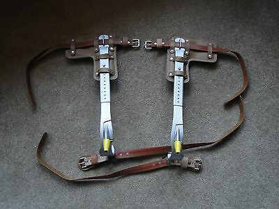 """Refurbished To All Specs""  Klein Adjustable Pole Climbing Gaffs / Spikes"