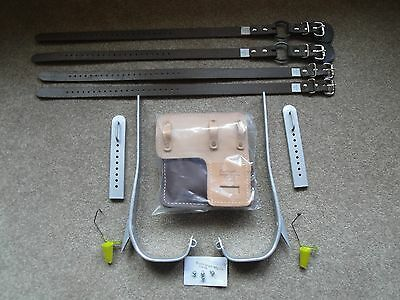 """Refurbished To All Specs""   Buckingham Adjustable Pole Climbing Gaffs / Spikes"