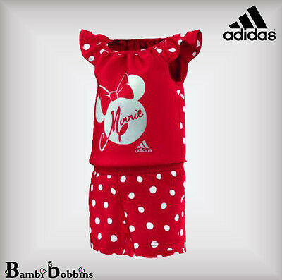 Adidas Disney Minnie Mouse Red Baby Girls Outfit Romper 0-3-6-9-12-18-24 Months