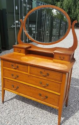 Victorian Satinwood Mirror Top Dressing Chest