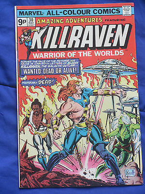Killraven, Marvel Comic, Vol 1 #30 1975 Warrior of the Worlds