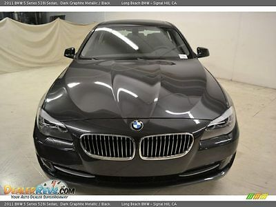 2011 BMW 5-Series Base 4 door BEVERLY HILLS BMW 528i 5 SERIES 2011 DARK GRAPHITE METALLIC (BLACK/GRAY) CPO WAR