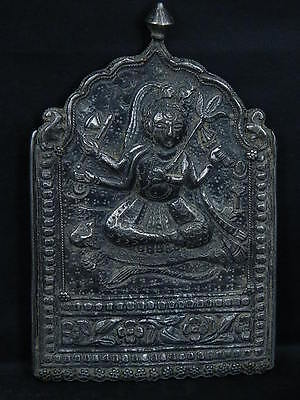 Ancient Hindu Temple Silver Deity 1700 AD #S2394