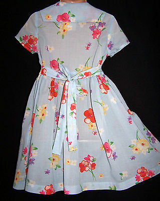 Laura Ashley vintage mother & child label powder floral voile cotton dress 2yrs