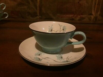 Taylor Smith Taylor Blue Lace Cups (x4) and Saucers (x6)