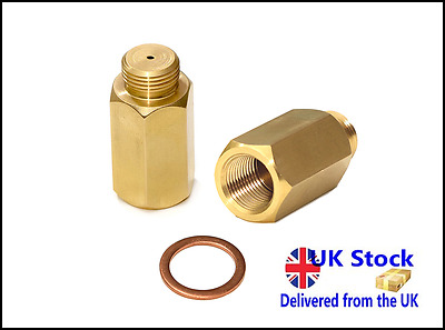 M18 x1.5 Lambda O2 Oxygen Sensor Extension Extender Spacer Exhaust Brass