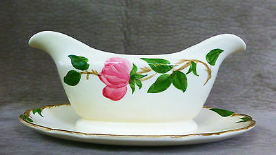 Franciscan Desert Rose Gravy Boat With Attached Underplate - Old Mark