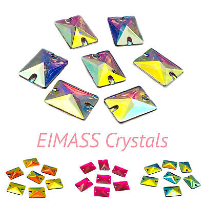 Rectangle Shape EIMASS® Sew or Glue on Resin Crystals for Costumes Embellishment