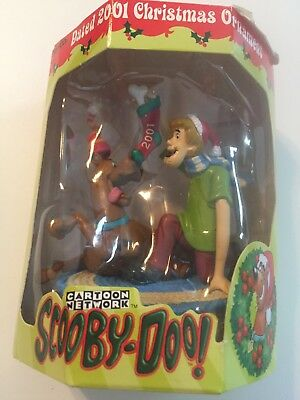 2001 Carton Network Scooby Doo & Shaggy Holiday Christmas Ornament