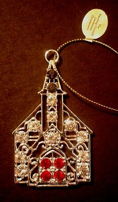 Danbury Mint The Dazzling Crystals Church with Steeple Christmas Ornament NEW