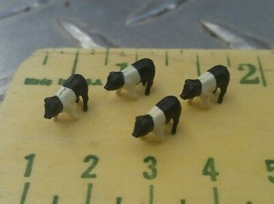 1/64 ERTL FARM COUNTRY TOY QTY of 4 hamps Hampshire piglets vhtf! Pig hog sow