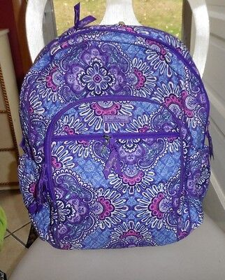 Vera Bradley Campus tech backpack  in Lilac Tapestery pattern