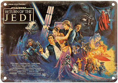 """10"""" x 7"""" Metal Sign - Return of the Jedi Star Wars - Vintage Look Reproduction"""