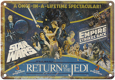 """10"""" x 7"""" Metal Sign - Star Wars Trilogy - Vintage Look Reproduction"""