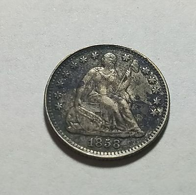 1858 United States Seated Liberty Half Dime XF Extremely Fine