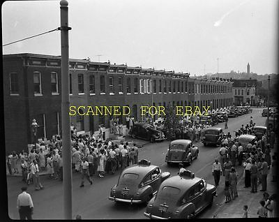 1940s Baltimore Maryland Car Wreck Accident ORIGINAL PHOTO NEGATIVE