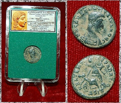 Ancient Roman Empire Coin  CONSTANTIUS GALLUS Soldier Spearing Fallen Horseman