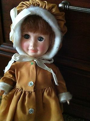 Effanbee Doll - Day by Day Thursday's Child Vintage 1970s Gold Hat+Dress., wow