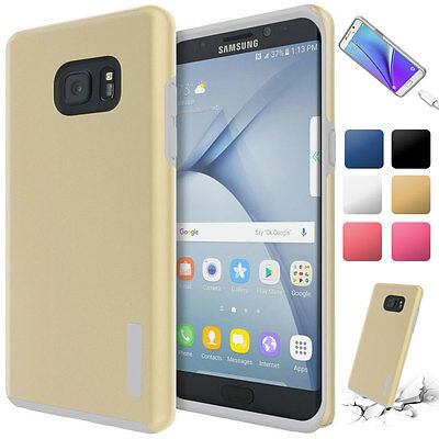 Slim Dual Protection Shockproof Soft Armor Case Cover For Samsung Galaxy S7 Gold