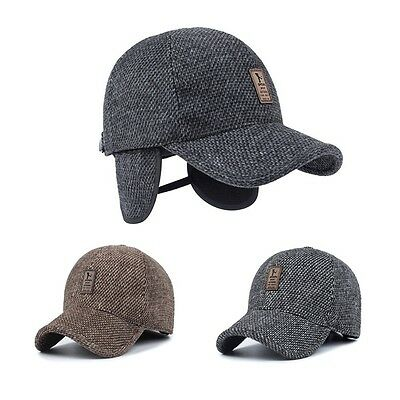 c7071b926ee81 MEN S WINTER HAT Baseball Hat with Ear Flaps Warm Cotton -  8.90 ...