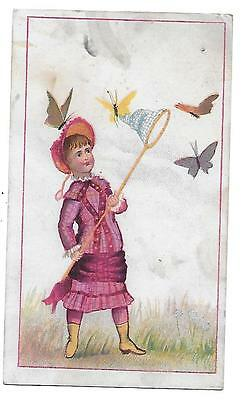 Johnson's Keystone Coffee Victorian Trade Card Pittsburgh Pa. Butterflies