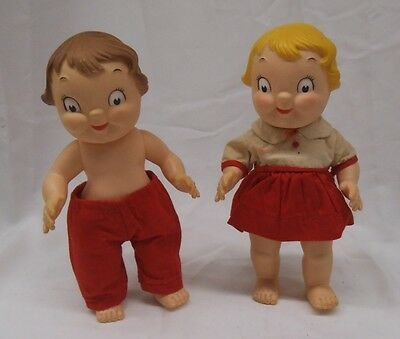 Vintage 1970 Campbell Soup Dolls Boy and Girl
