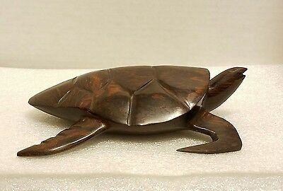 Carved Ironwood Sea Turtle - Mexico - Iron Wood - Vintage 7 1/2""