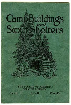 Camp Buildings & Scout Shelters Rustic 1929 Boy Scouts of America EX