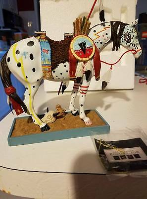2003 Trail Of Painted Ponies Horse Figurine #1452 Mint in Box Native Indian 4E