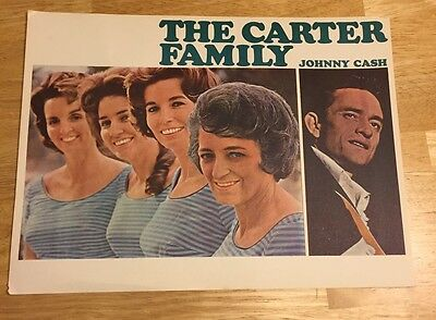 JOHNNY CASH June Carter Family ORIGINAL LOBBY CARD Poster Keep On The Sunny Side