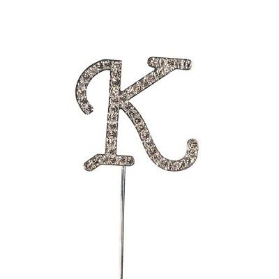 Culpitt K Diamante Letter Topper Wedding Anniversary Birthday Cake Decorations