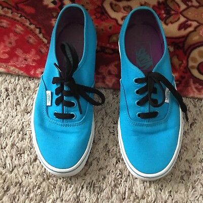 Vans Off The Wall Blue White Classic Sneakers Womens Size 8.5 M ~ Casual Shoes