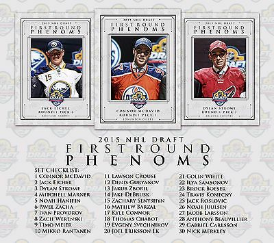 2015 NHL Draft First Round Phenoms Custom Cards DROPDOWN MENU OF ALL 30 PLAYERS