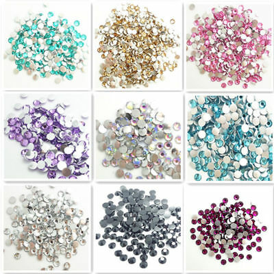Hot Resin rhinestones Flatback round  beads DIY Wholesale  3mm4mm5mm6mm7mm8mm