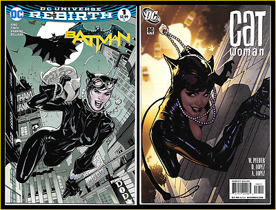 Catwoman #80 (2008) Batman #1 (2016) Adam Hughes Terry Dodson Midtown Variant Nm