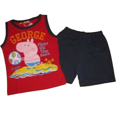 Completo bambino Peppa Pig George t-shirt e shorts