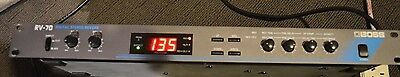 Vintage BOSS RV-70 Rackmount Digital Stereo Reverb Effects 1U Rack - ROLAND