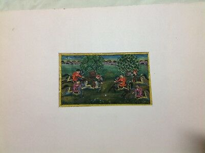 Antique Indian Mughal Painting