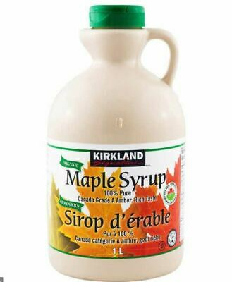 2 x Kirkland Signature Maple Syrup 1L / 100% Pure - best Maple syrup