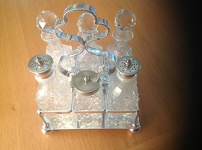 A REALLY Superb Antique Silver Plate 6-Piece condiment Set by Daniel & Arter