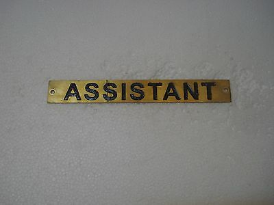 ASSISTANT  – Marine BRASS Door Sign -  Boat/Nautical -  8 x 1 Inches (15)