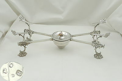Rare George Iii Hm Sterling Silver Spirit Burner Dish Cross 1773
