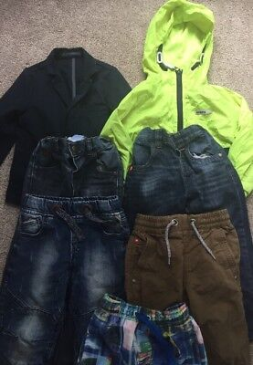 Boys Clothes Bundle Age 3-4 Years 100% NEXT  🕶🌴JEANS COATS Shorts Trousers