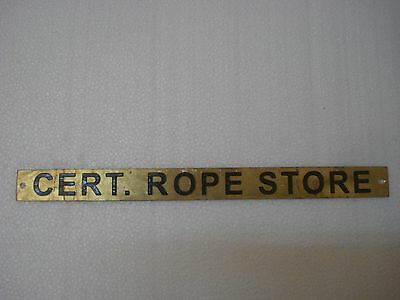 CERT. ROPE STORE – Marine BRASS Door Sign -  Boat/Nautical - 12 x 1 Inches (111)