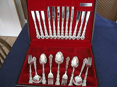 """Vintage Oneida Community Plate Canteen of """"Mansion House"""" Cutlery Silver Plated"""