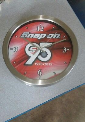 SNAP ON 12 INCH CLOCK Snap On Tools 95th ANNIVERSARY 1920-1915
