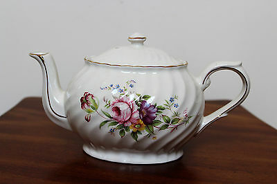 Arthur Wood & Son Staffordshire, England Teapot 6315 With Floral Design