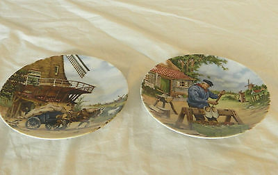 Holland 1984 2 Collectible Plates-Hand Decorated –Royal Schabap -Ter Steege Bv