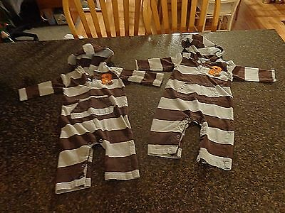 Baby Boys 9 Months Infant One piece outfits. Twin Boys 9M,  lot of two identical